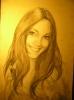 портрет Віки /папір 50х80, олівець, кава/