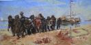 """копия картины: Репина  Илья  Ефимовича (1844-1930) """"Бурлаки на Волге"""""""