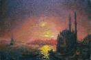 """копия Айвазовского """"Вид Константинополя, при лунном освещении"""""""