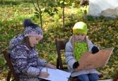 Пленер дитячої студії « Арт -листочки» у Меморіальному музеї «Хата на Пріорці».